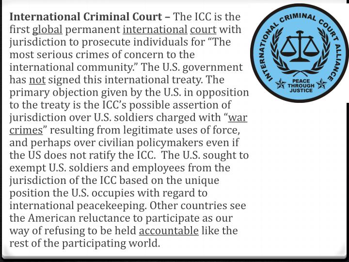International Criminal Court –