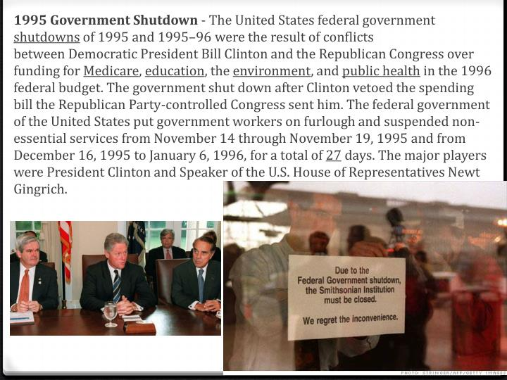 1995 Government Shutdown