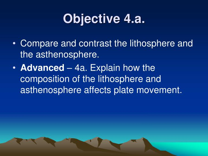 Objective 4 a