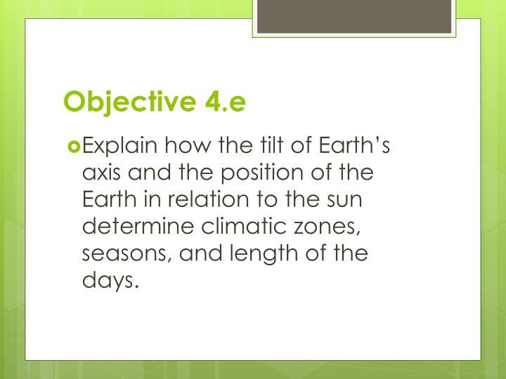 Objective 4.e