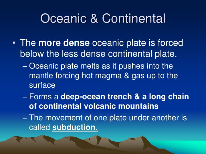 Oceanic & Continental