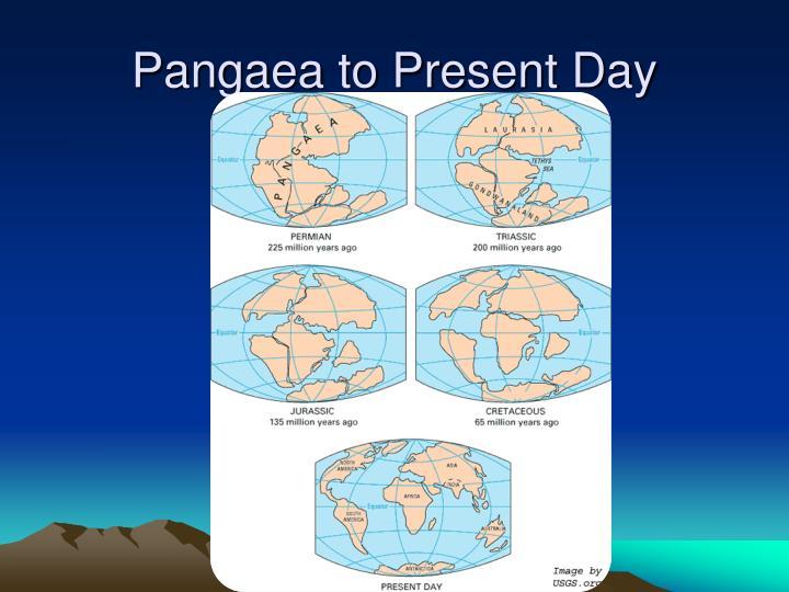 Pangaea to Present Day