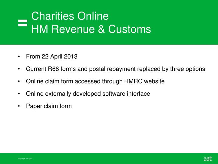 Charities online hm revenue customs