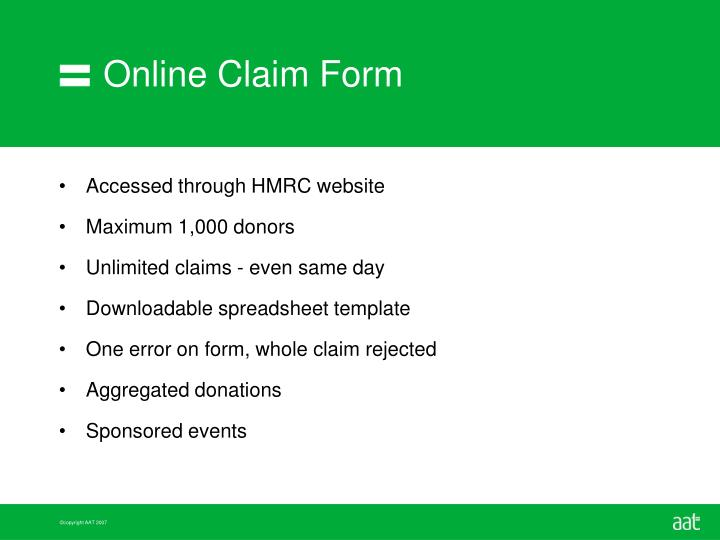 Online Claim Form