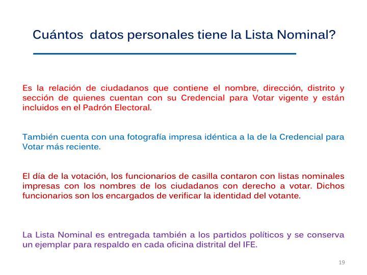 Cuntos  datos personales tiene la Lista Nominal?