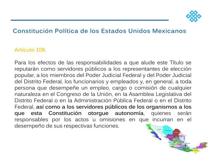 Constitucin Poltica de los Estados Unidos Mexicanos