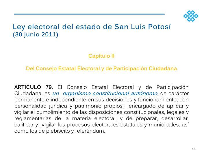 Ley electoral del estado de San Luis Potos