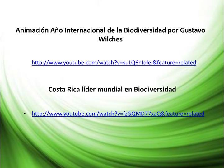 Animación Año Internacional de la Biodiversidad por Gustavo