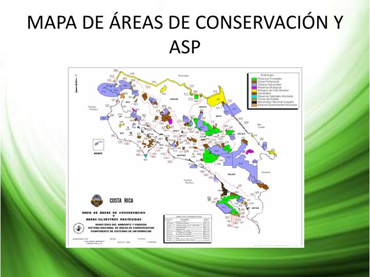 MAPA DE ÁREAS DE CONSERVACIÓN Y ASP