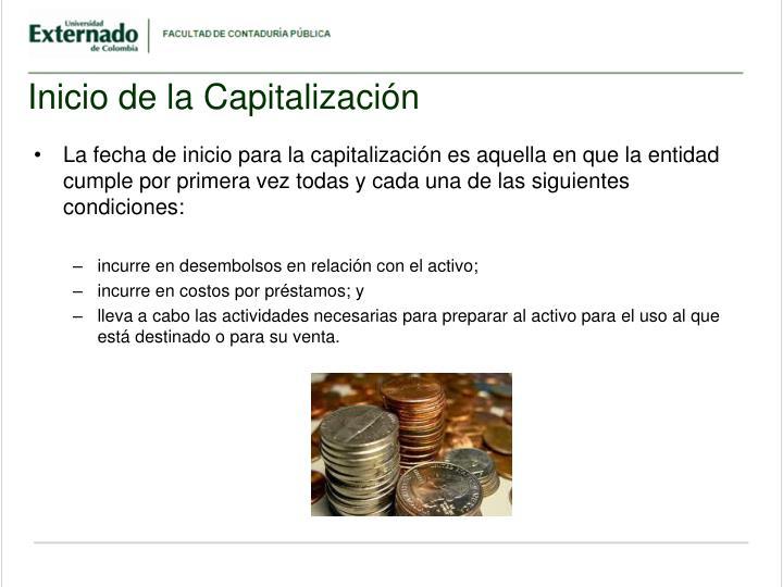 Inicio de la Capitalización
