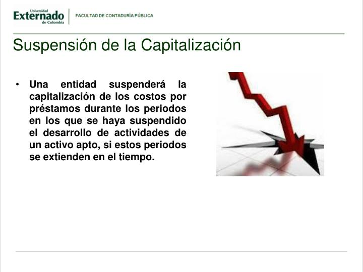 Suspensión de la Capitalización