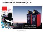 brief on multi zone audio mza
