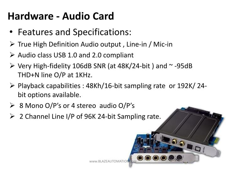 Hardware - Audio Card