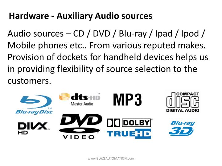 Hardware - Auxiliary Audio sources