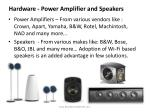 hardware power amplifier and speakers