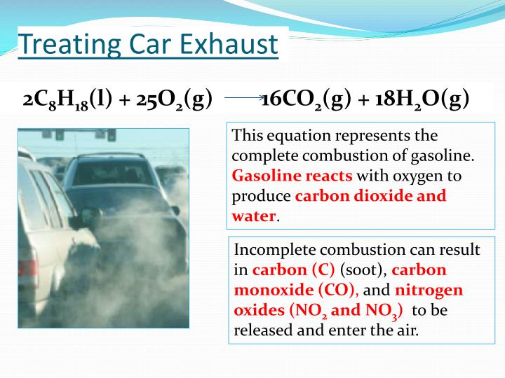 Treating car exhaust