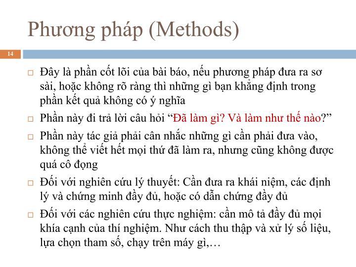 Phương pháp (Methods)