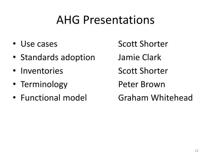 AHG Presentations