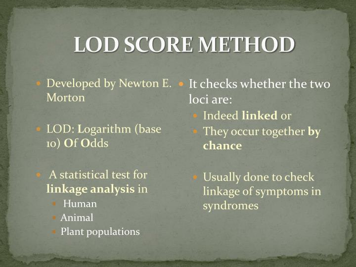 LOD Score Method
