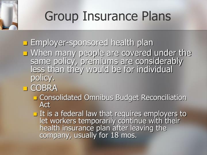 Group Insurance Plans