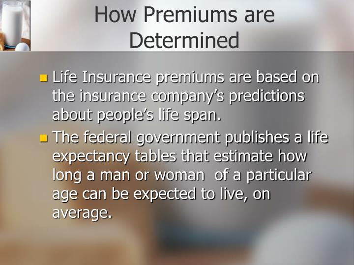 How Premiums are Determined