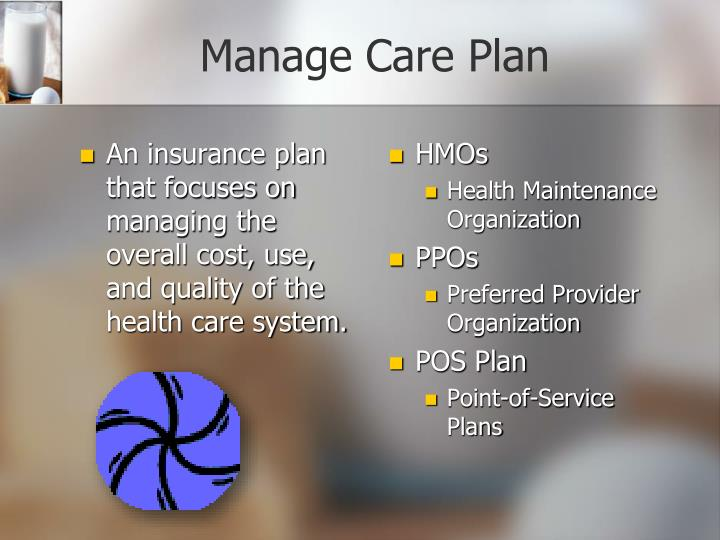 Manage Care Plan