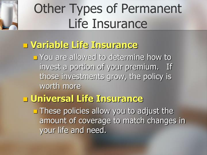Other Types of Permanent Life Insurance