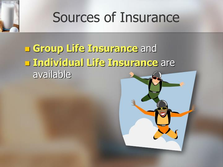 Sources of Insurance