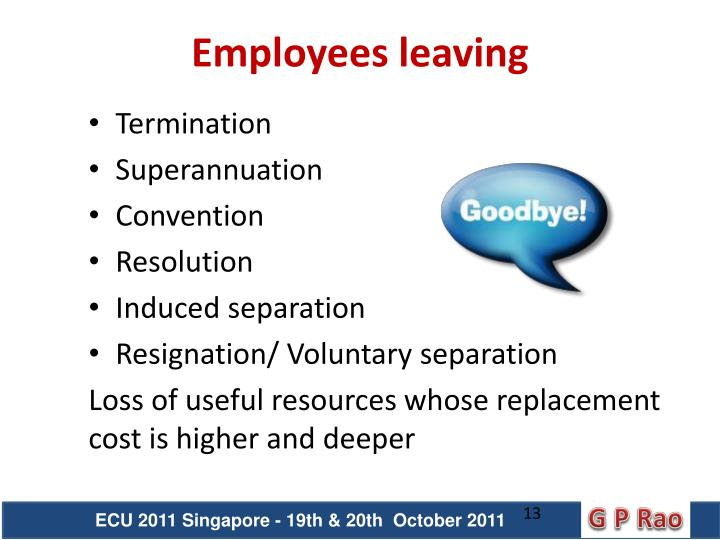 Employees leaving