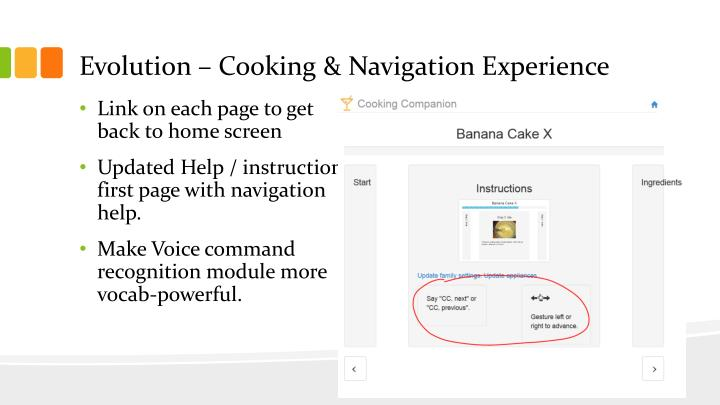 Evolution – Cooking & Navigation Experience
