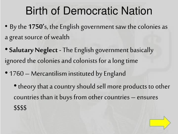 Birth of Democratic Nation