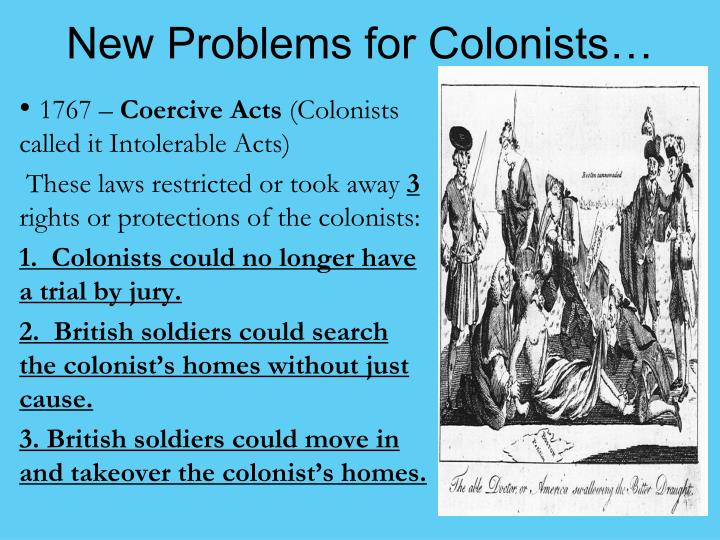 New Problems for Colonists…