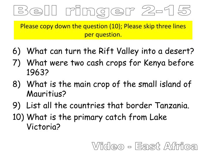 What can turn the Rift Valley into a desert?
