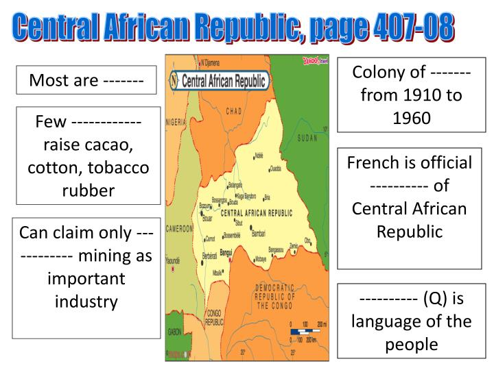 Central African Republic, page 407-08