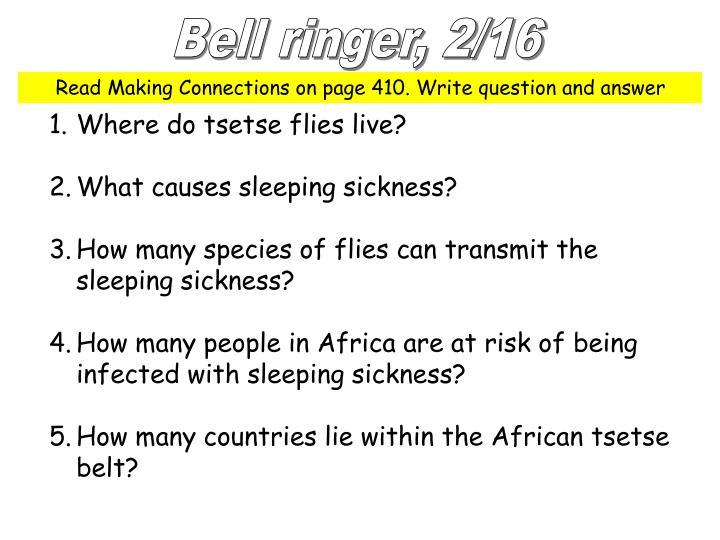 Bell ringer, 2/16