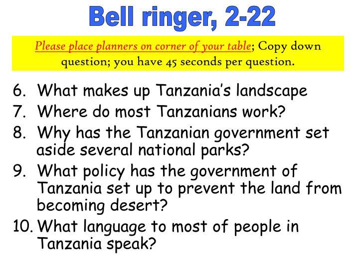 Bell ringer, 2-22
