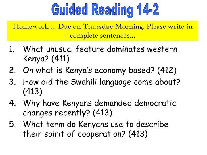 What unusual feature dominates western Kenya? (411)