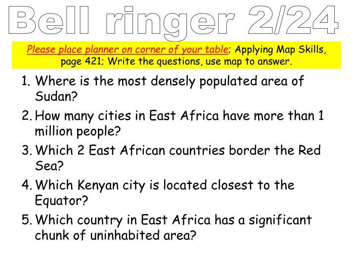 Bell ringer 2/24