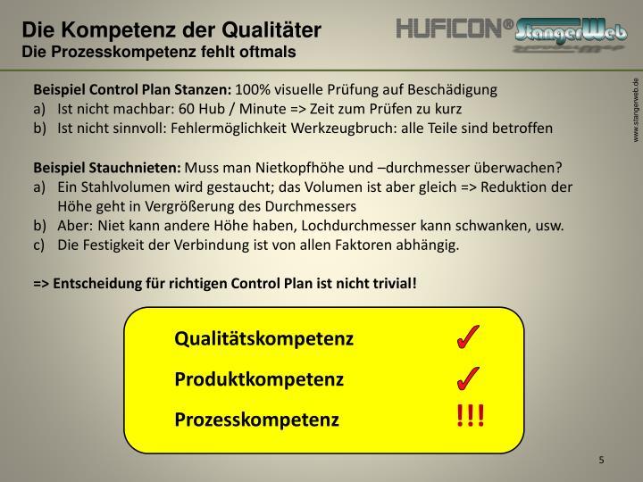 Die Kompetenz der Qualitäter