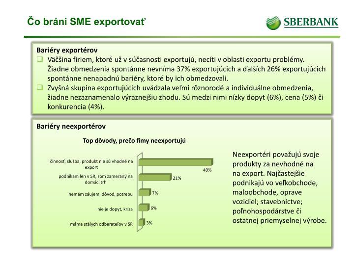 Čo bráni SME exportovať