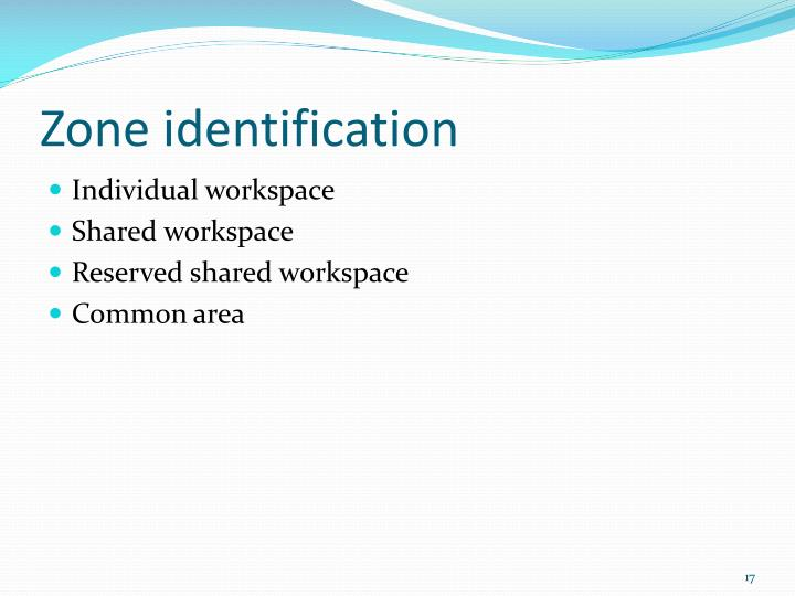 Zone identification
