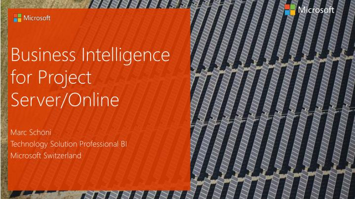 Business intelligence for project server online