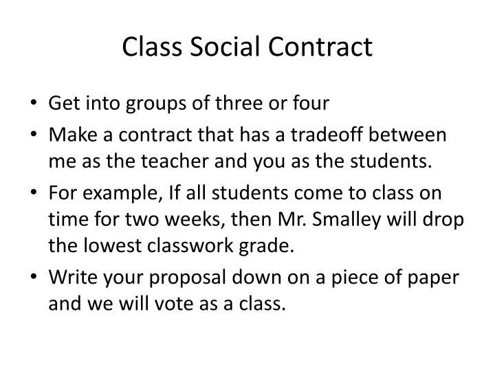 Class Social Contract