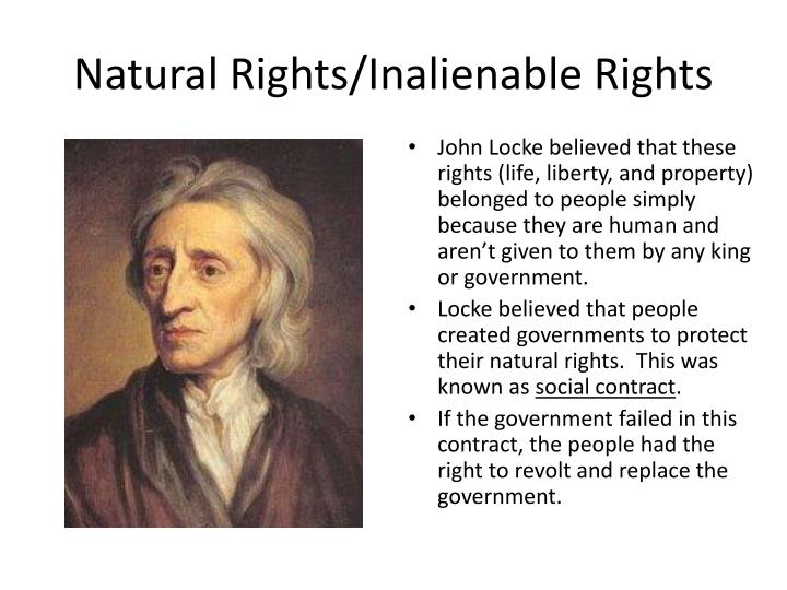 Natural Rights/Inalienable Rights