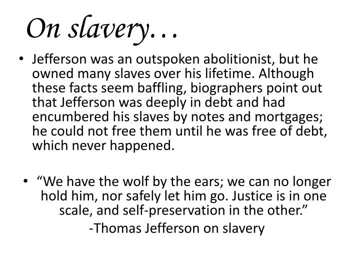 On slavery…