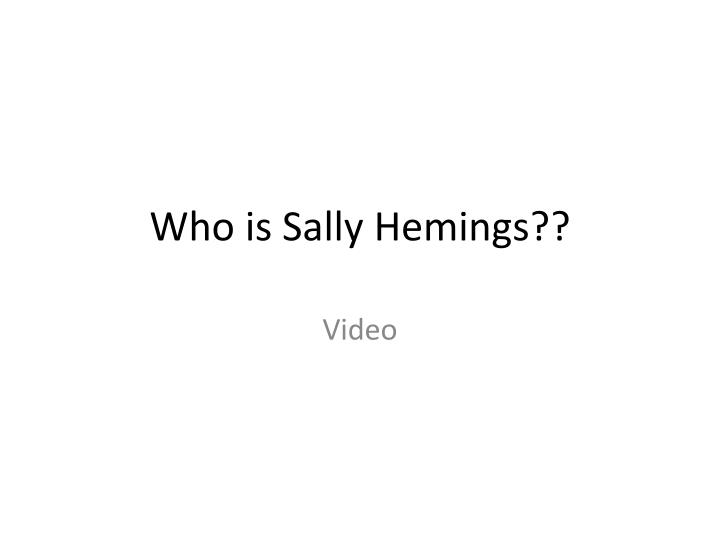 Who is Sally