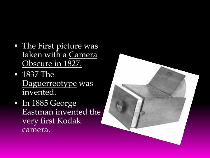 The First picture was taken with a