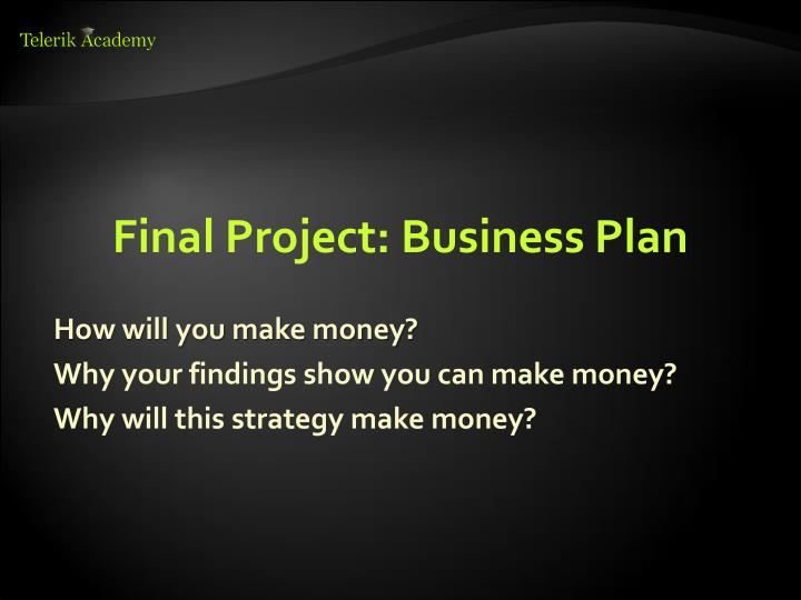 final project export business plan Continue to page 2 to view more sections included in the international business plan example in this section you want to address any export/import requirements and counseling your company's readiness to export/import products or services.
