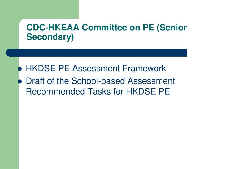 CDC-HKEAA Committee on PE (Senior Secondary)