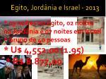 egito jord nia e israel 2013